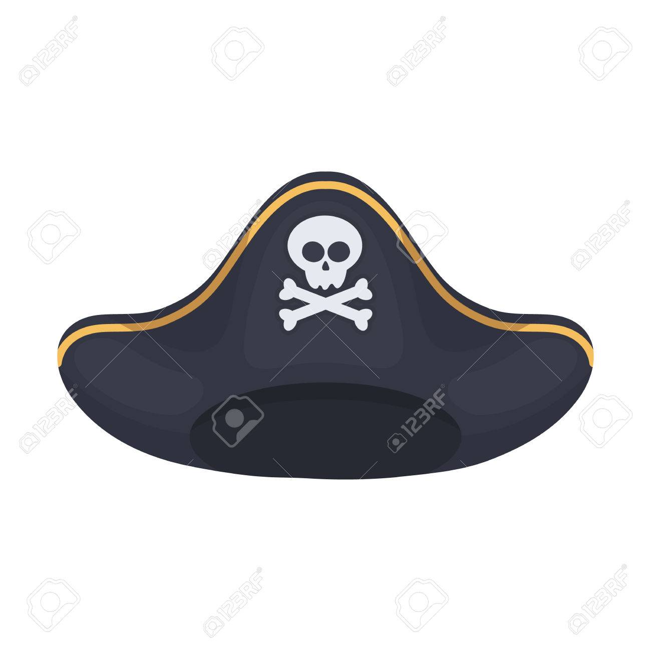 pirate hat icon in cartoon style isolated on white background rh 123rf com cartoon pirate hat images cartoon pirate hat images