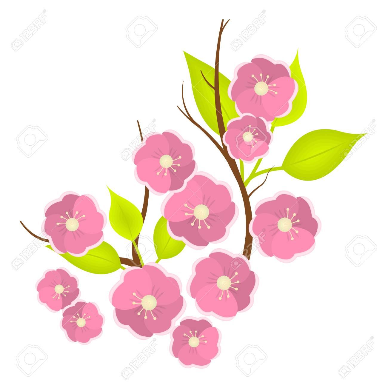 Sakura flowers icon in cartoon style isolated on white background sakura flowers icon in cartoon style isolated on white background japan symbol vector illustration mightylinksfo Choice Image