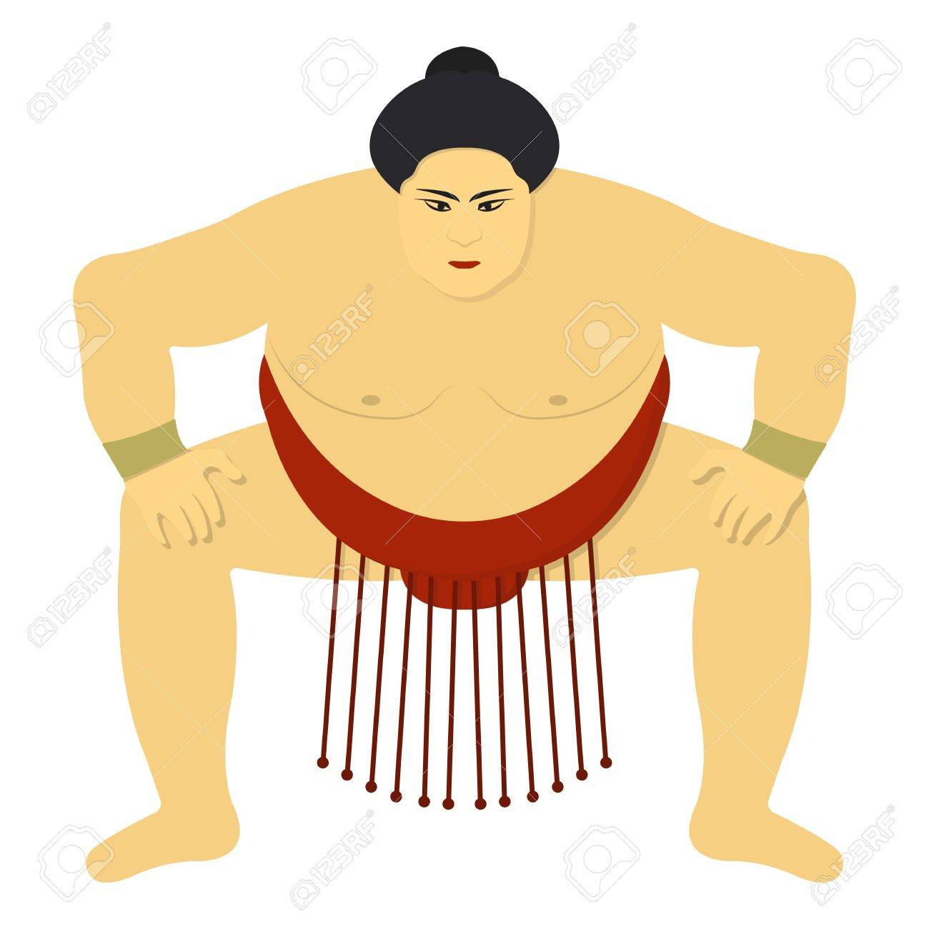 sumo wrestler icon in cartoon style isolated on white background rh 123rf com