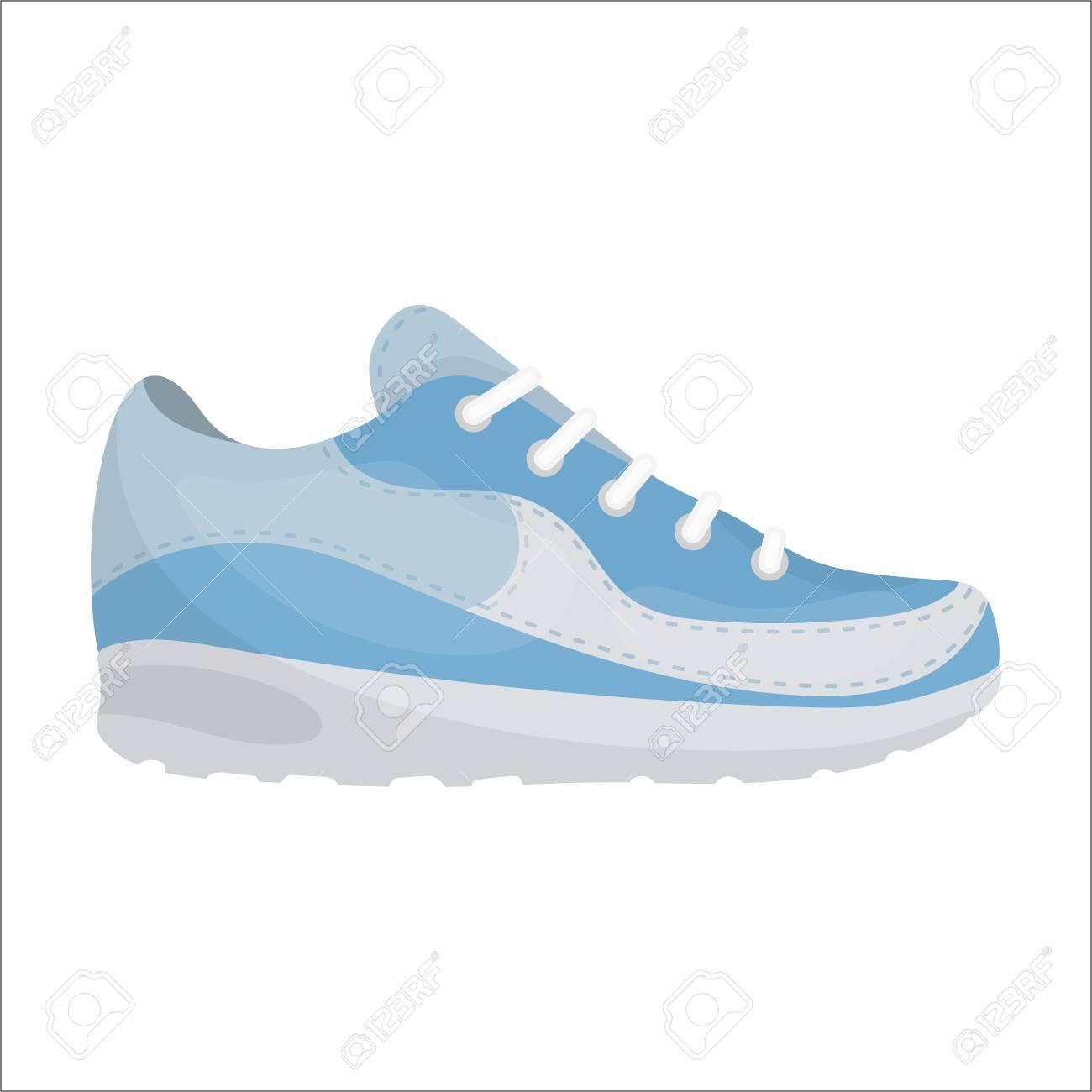 Símbolo Zapatos Animados Dibujos Sobre Aislado Fondo Vector Icono De Zapatillas En Estilo BlancoIlustración dCxBore