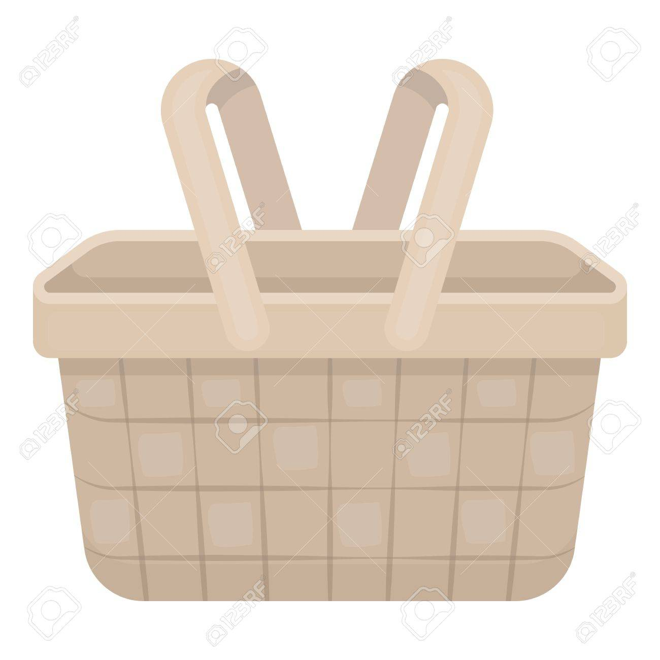 Picnic Basket Icon In Cartoon Style Isolated On White Background Royalty Free Cliparts Vectors And Stock Illustration Image 64178601