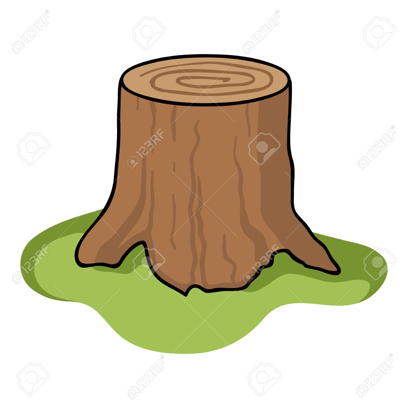 Tree Stump Icon In Cartoon Style Isolated On White Background Royalty Free Cliparts Vectors And Stock Illustration Image 64178670