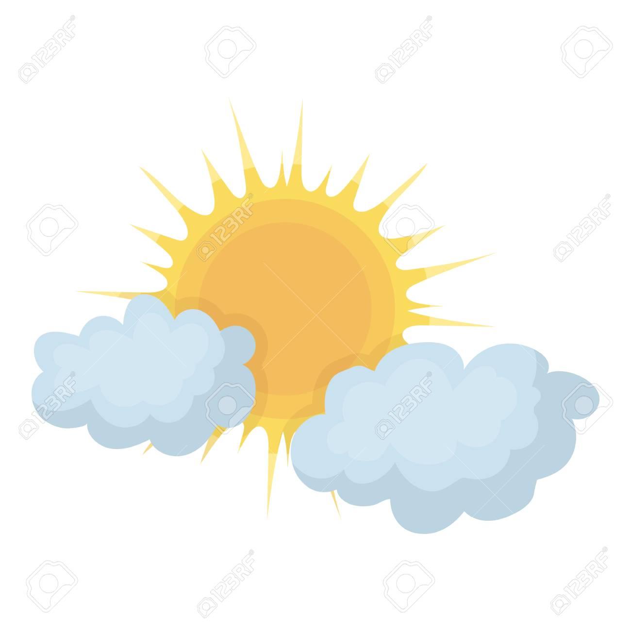 Icono De Clima Nublado En Estilo De Dibujos Animados Aislado Sobre Fondo  Blanco. Ilustración De Vector De Símbolo Del Tiempo. Ilustraciones  Vectoriales, Clip Art Vectorizado Libre De Derechos. Image 64178799.