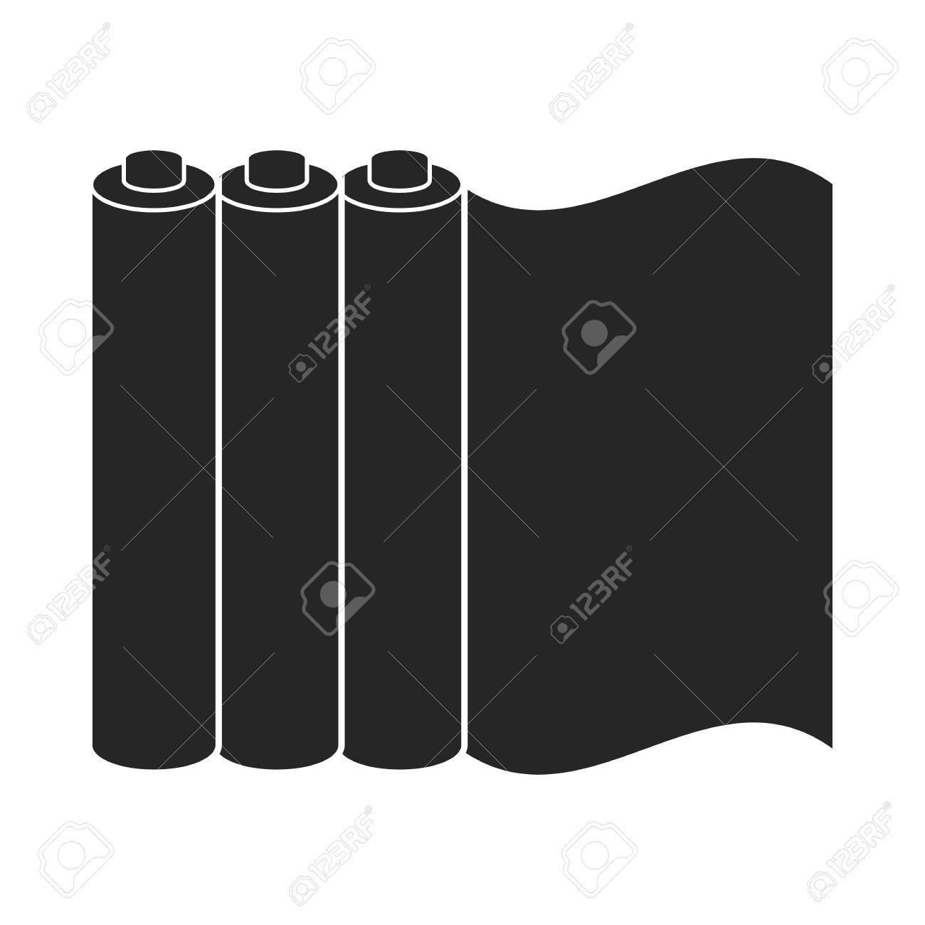 Color printing paper - Color Printing Paper In Black Style Isolated On White Background Typography Symbol Vector Illustration