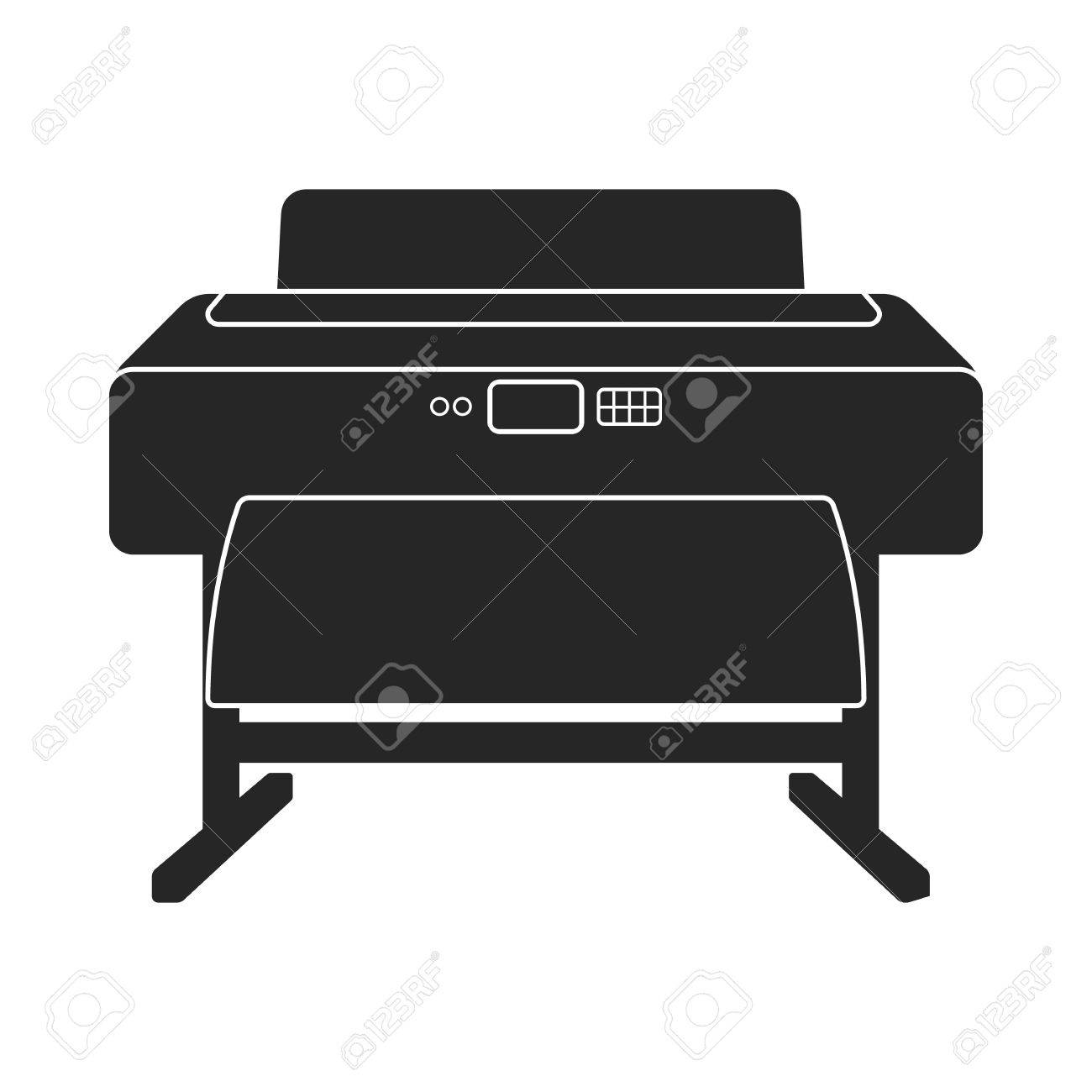 large format printer icon in black style isolated on white background royalty free cliparts vectors and stock illustration image 64250602 large format printer icon in black style isolated on white background