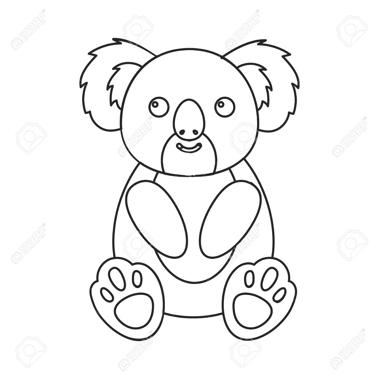 Koala Icon Outline Singe Animal Icon From The Big Animals Outline
