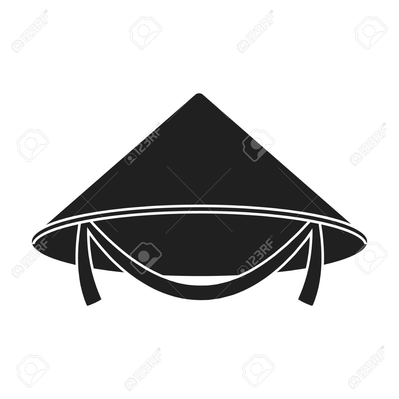 Conical hat icon in black style isolated on white background. Hats symbol  vector illustration. 80ec1936f47