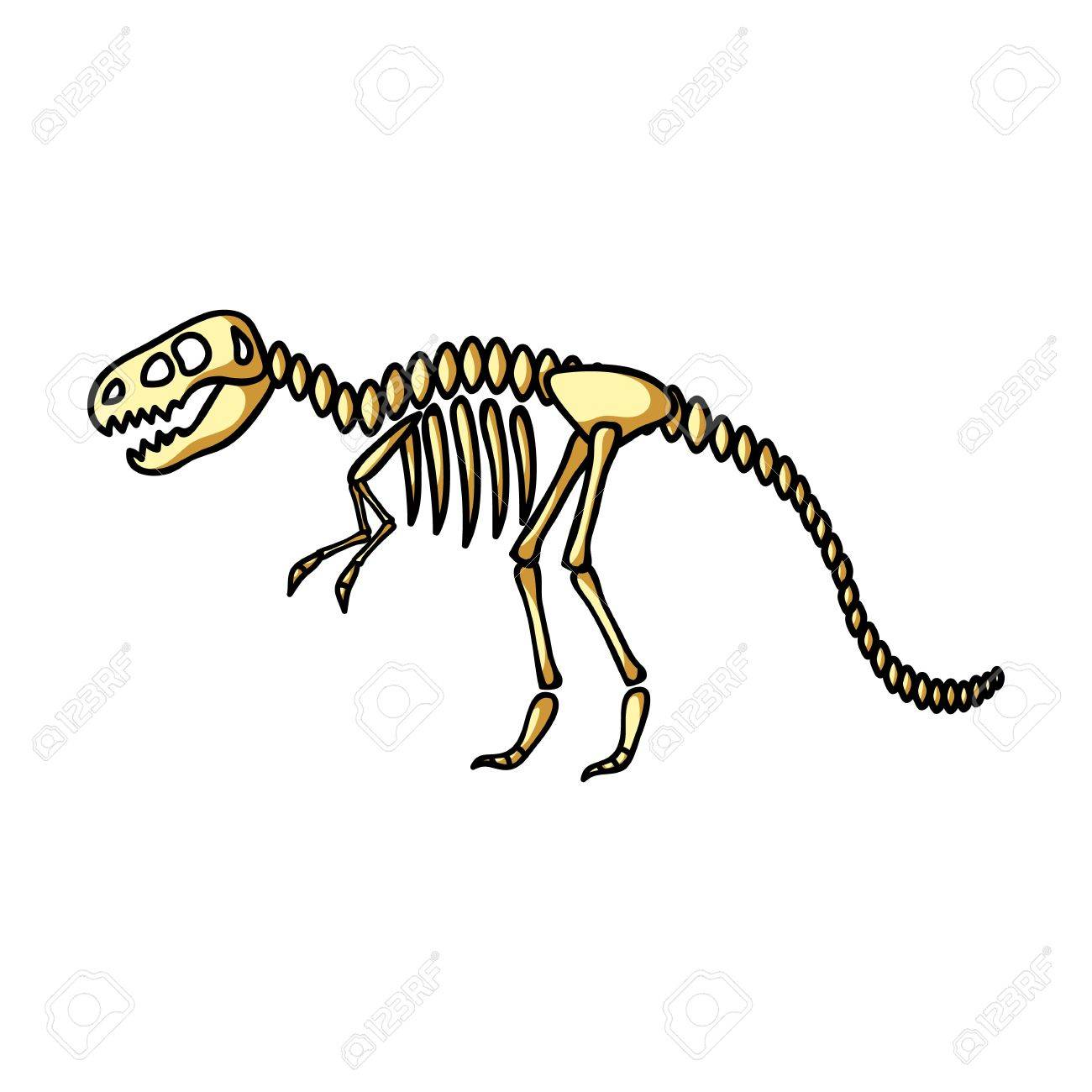 tyrannosaurus rex en icono de estilo de dibujos animados aislado en
