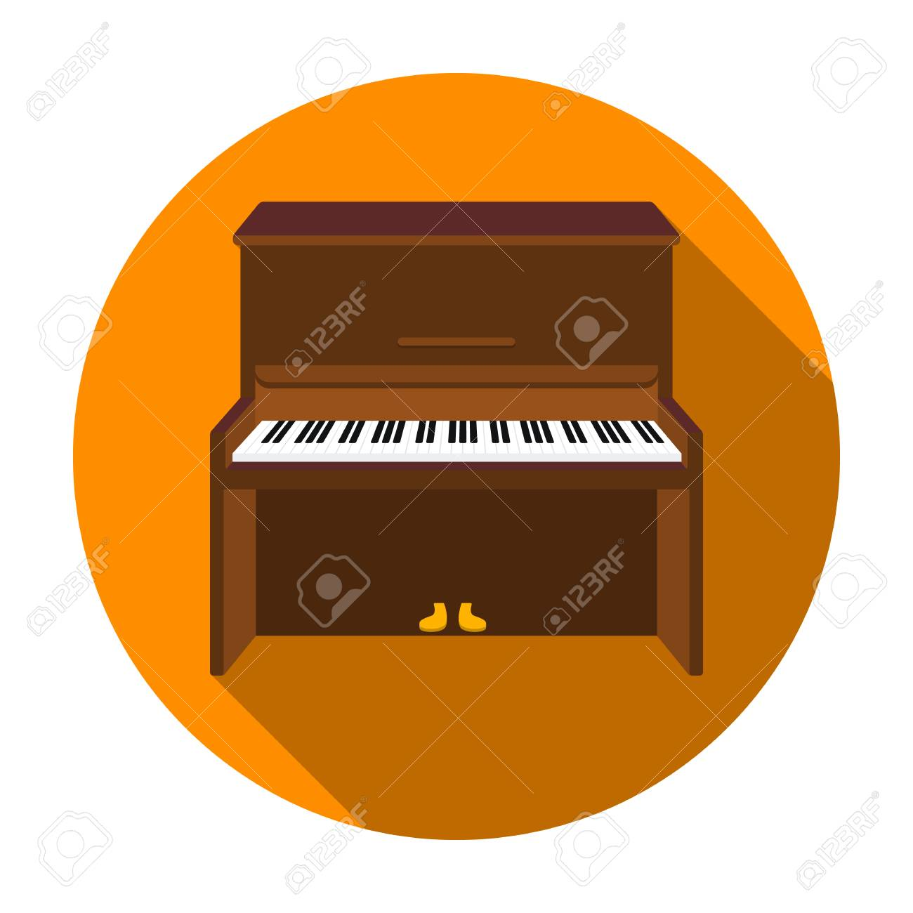 Piano Icon In Flat Style Isolated On White Background Musical