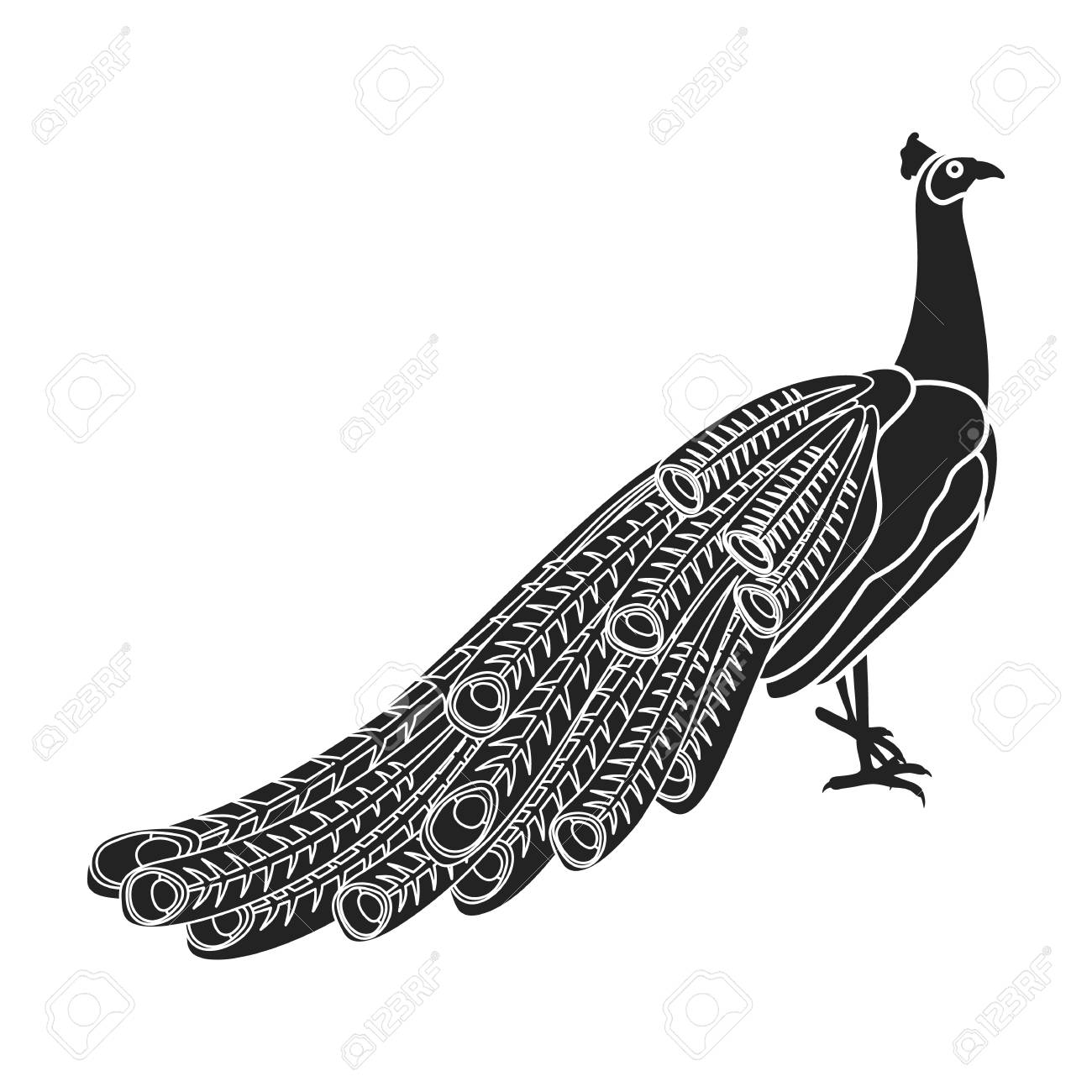 peacock icon in black style isolated on white background bird royalty free cliparts vectors and stock illustration image 68250611 peacock icon in black style isolated on white background bird