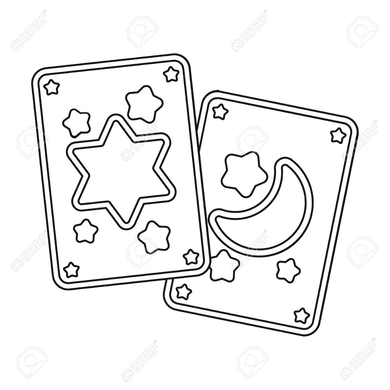 Tarot Symbols Black And White Sketches Clipart Library