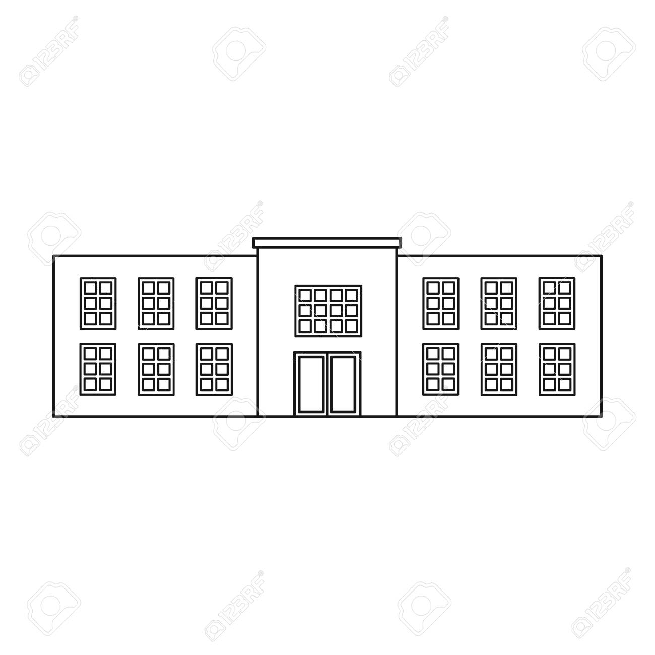 Police station icon in outline style isolated on white background police station icon in outline style isolated on white background building symbol vector illustration biocorpaavc