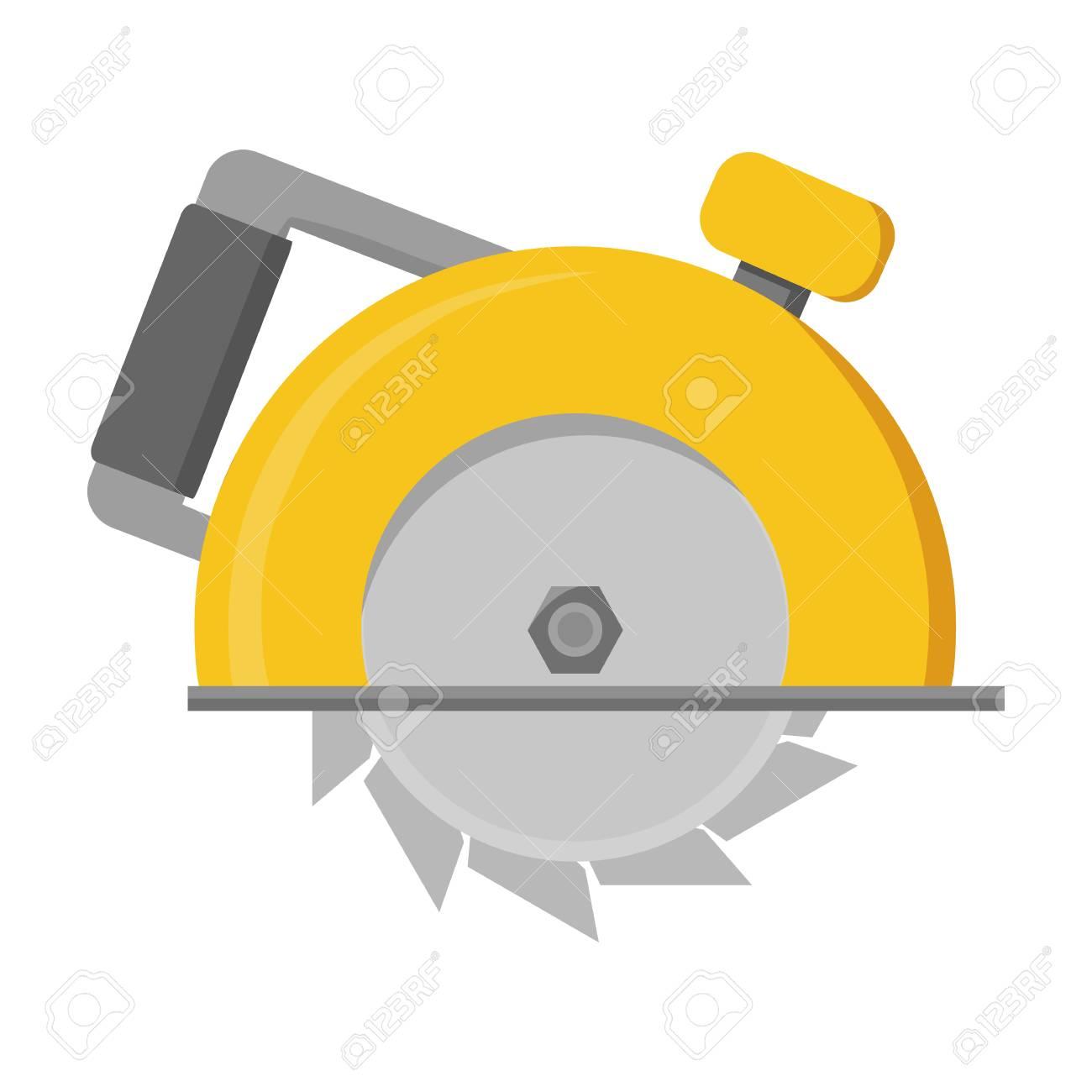 Kreissäge-Symbol Im Cartoon-Stil Auf Weißem Hintergrund. Bauen Und ...