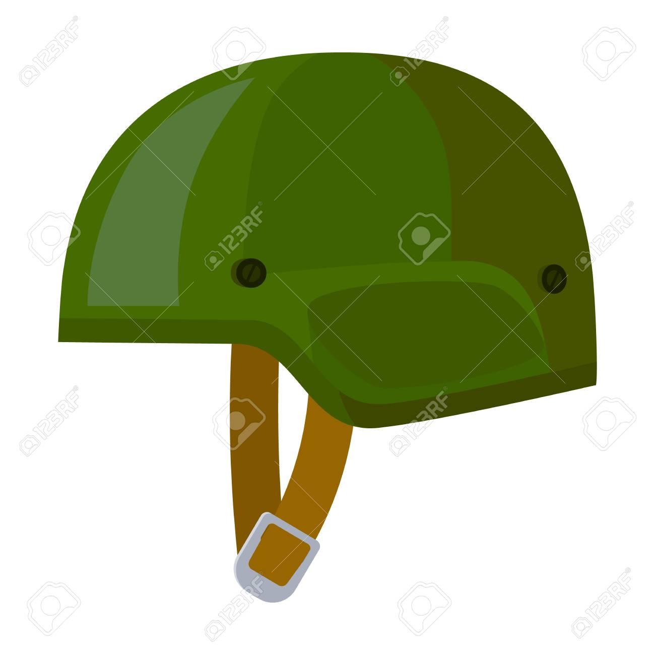 army helmet icon in cartoon style isolated on white background rh 123rf com Cartoon Army Person Cartoon Heart