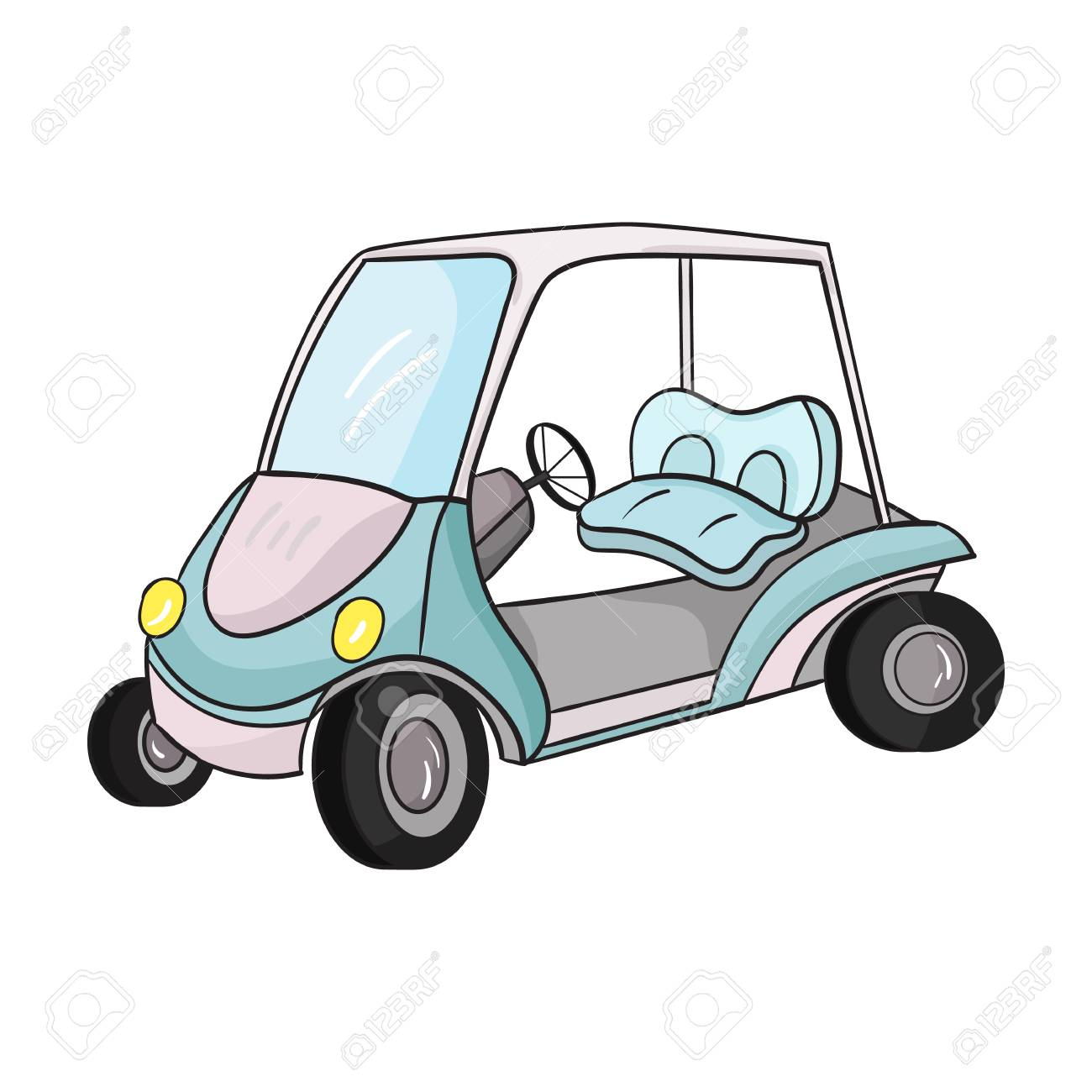 Golf Cart Icon In Cartoon Style Isolated On White Background Royalty Free Cliparts Vectors And Stock Illustration Image 67468818