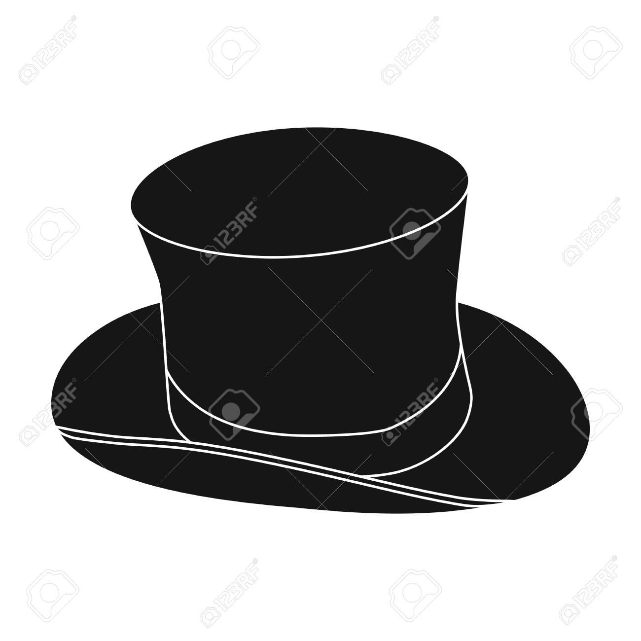 outlet in vendita scegli l'ultima disponibile Icona di cappello a cilindro in stile nero isolato su priorità bassa  bianca. Illustrazione di vettore di simbolo del paese dell'Inghilterra.