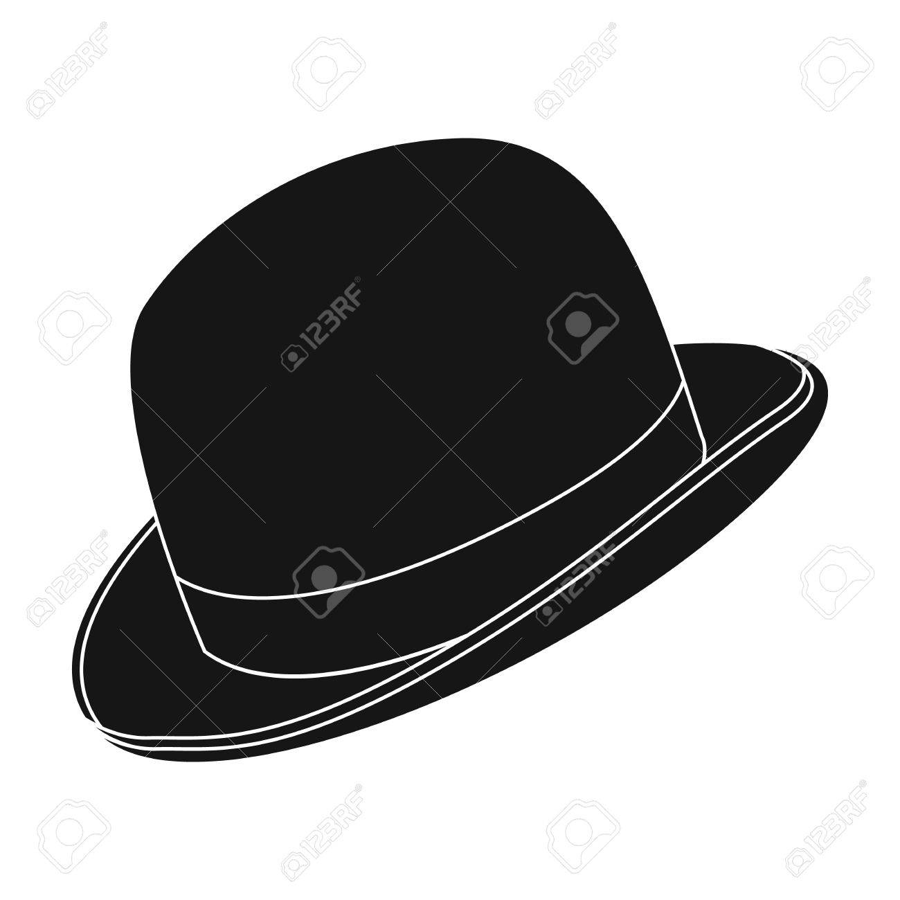 a13fc77036505 Bowler hat icon in black style isolated on white background. Hipster style  symbol stock vector
