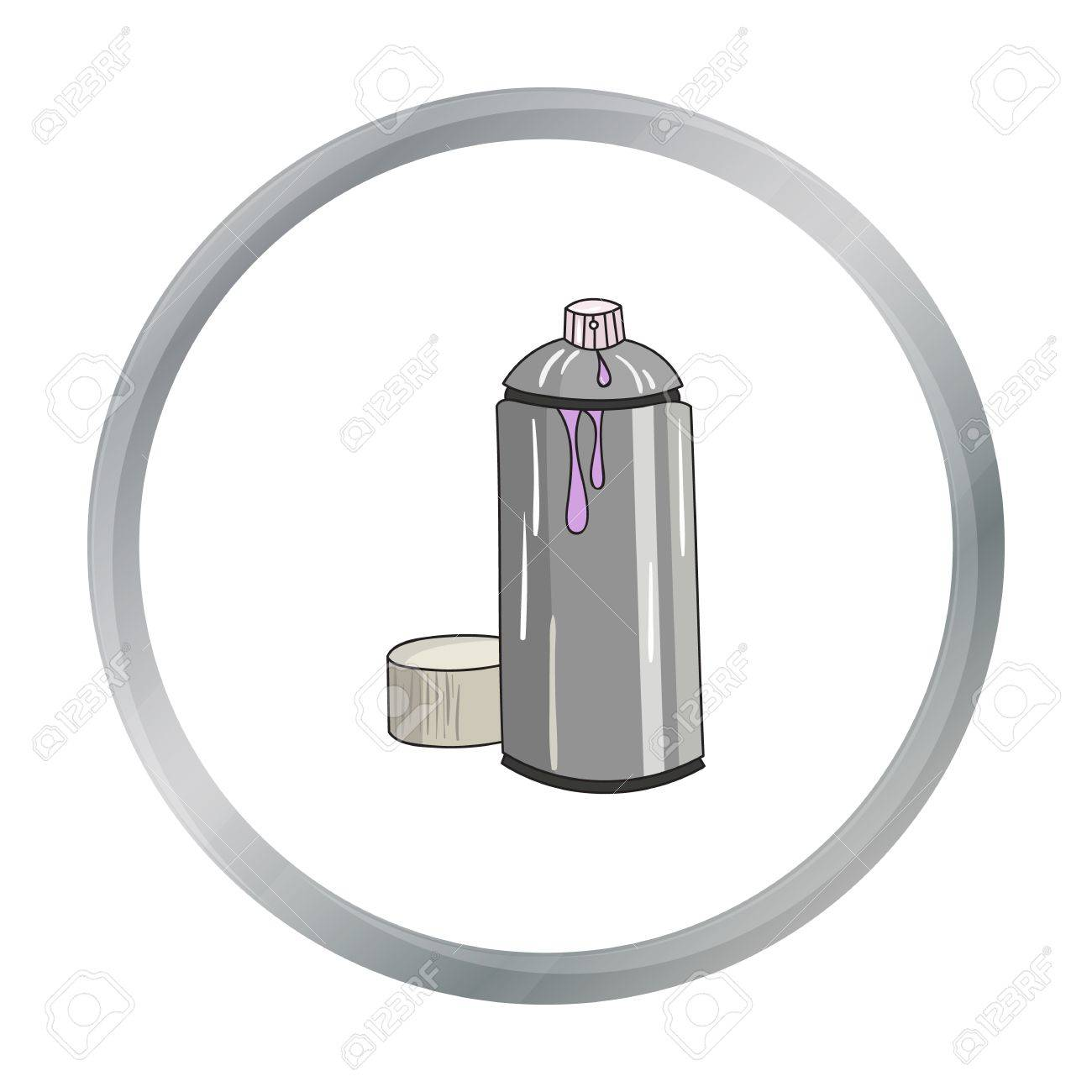 Spray paint can icon in cartoon style isolated on white background