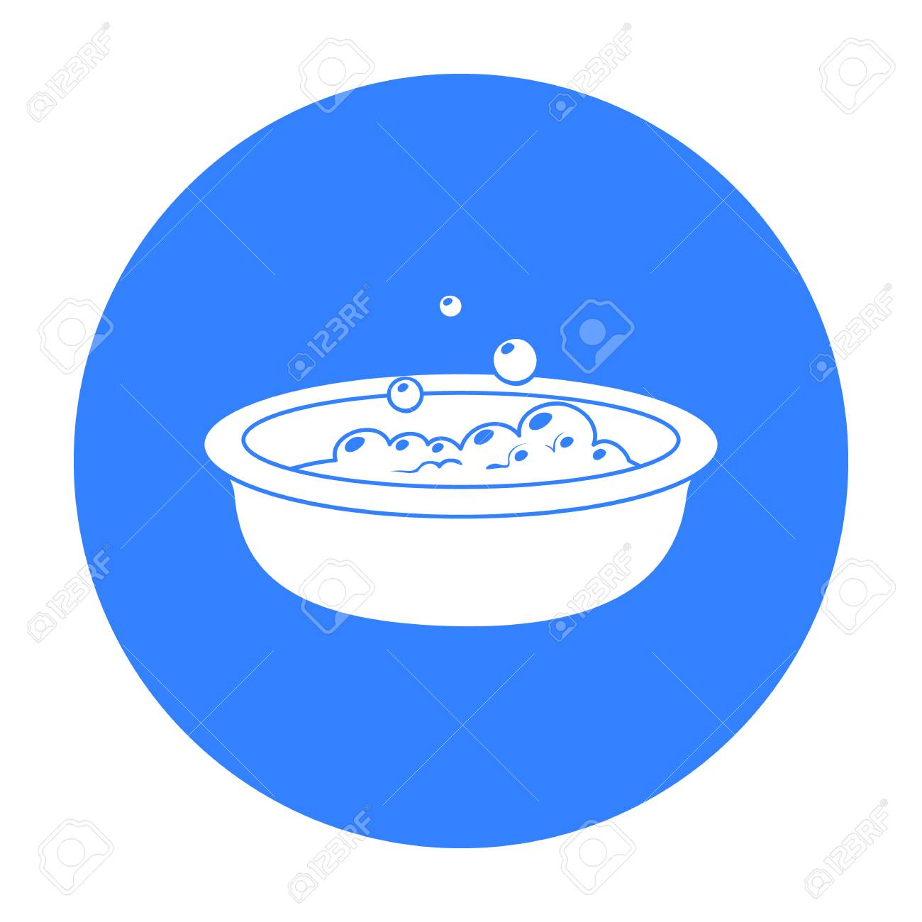 Baby Bath Icon In Black Style Isolated On White Background. Baby ...