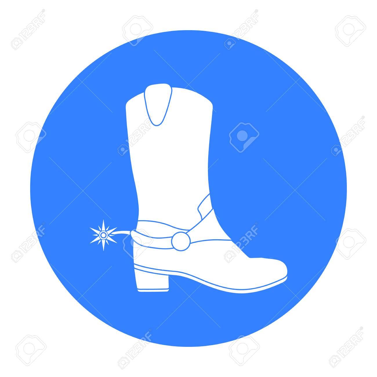 Icono de botas de vaquero s en estilo negro aislado sobre fondo blanco. Ilustración de vector stock de símbolo de país de Estados Unidos.