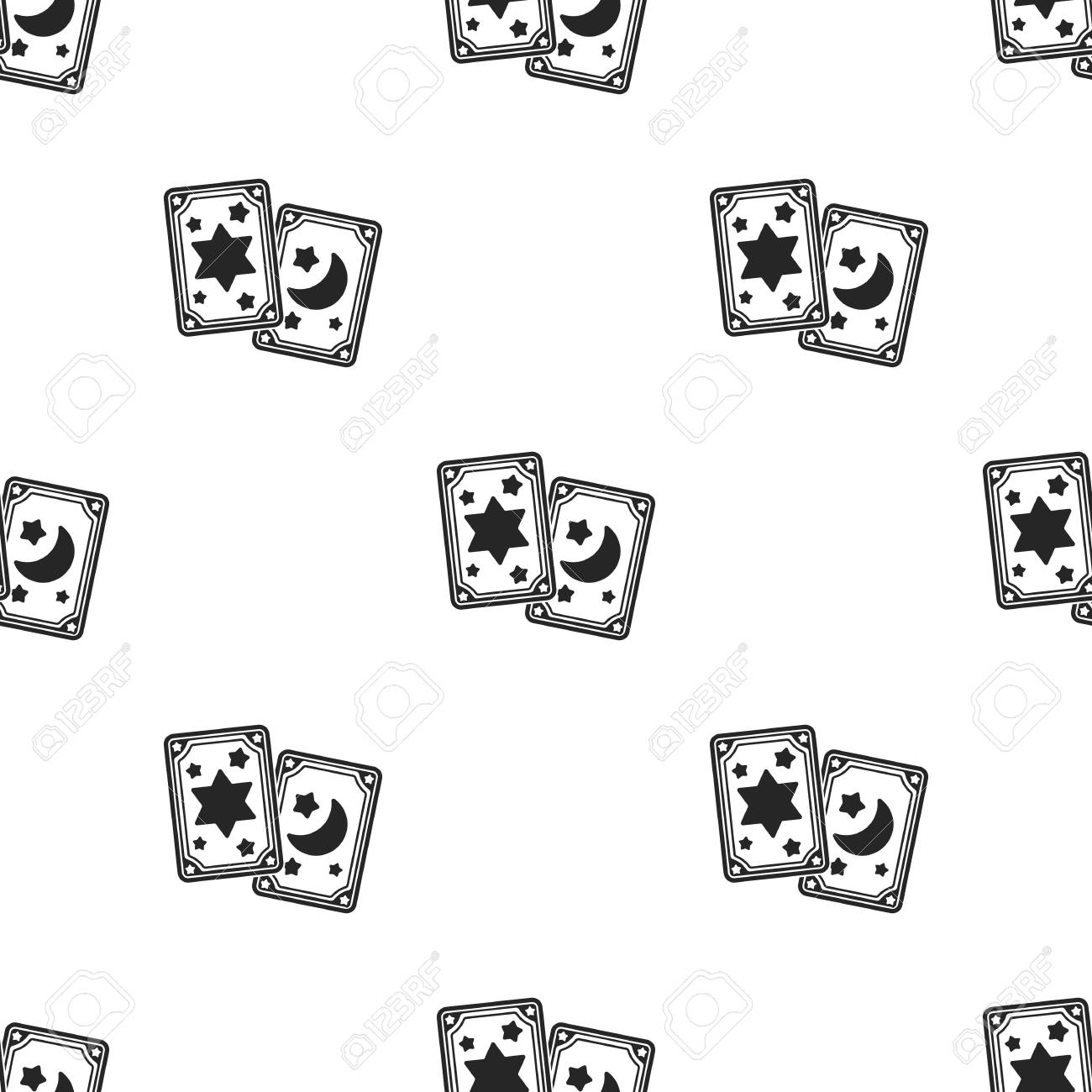Tarot cards icon in black style isolated on white background