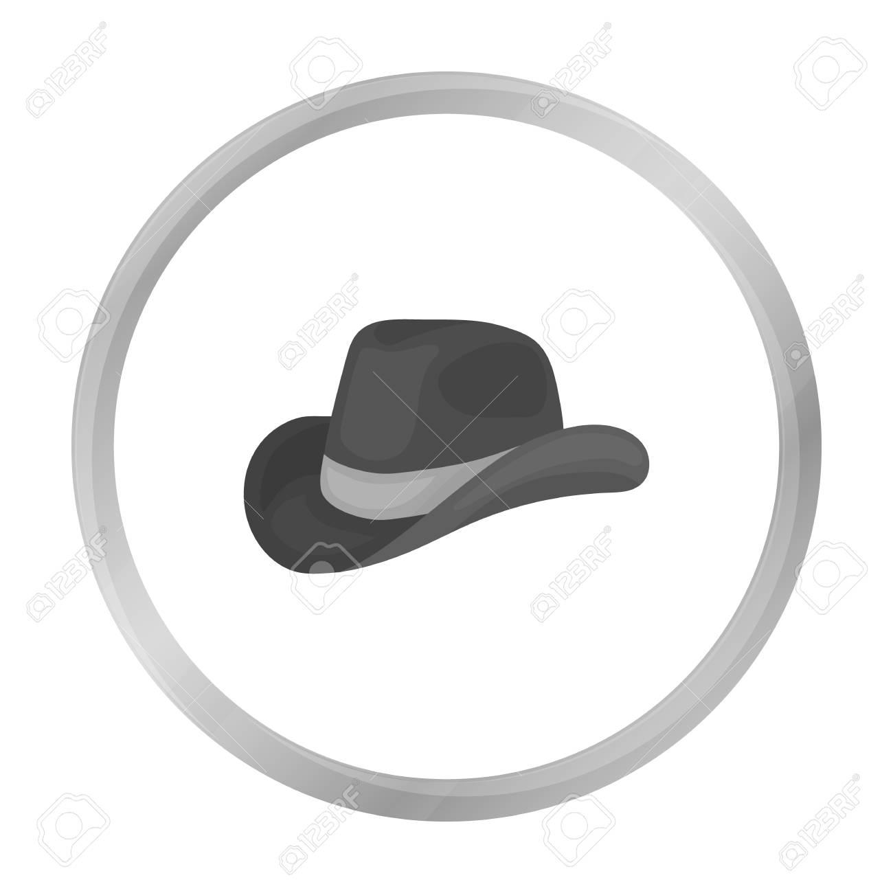 Foto de archivo - Icono de sombrero de vaquero en estilo blanco y negro  sobre fondo blanco. Símbolo del día de vectores ilustración stock Patriota. e6097698696