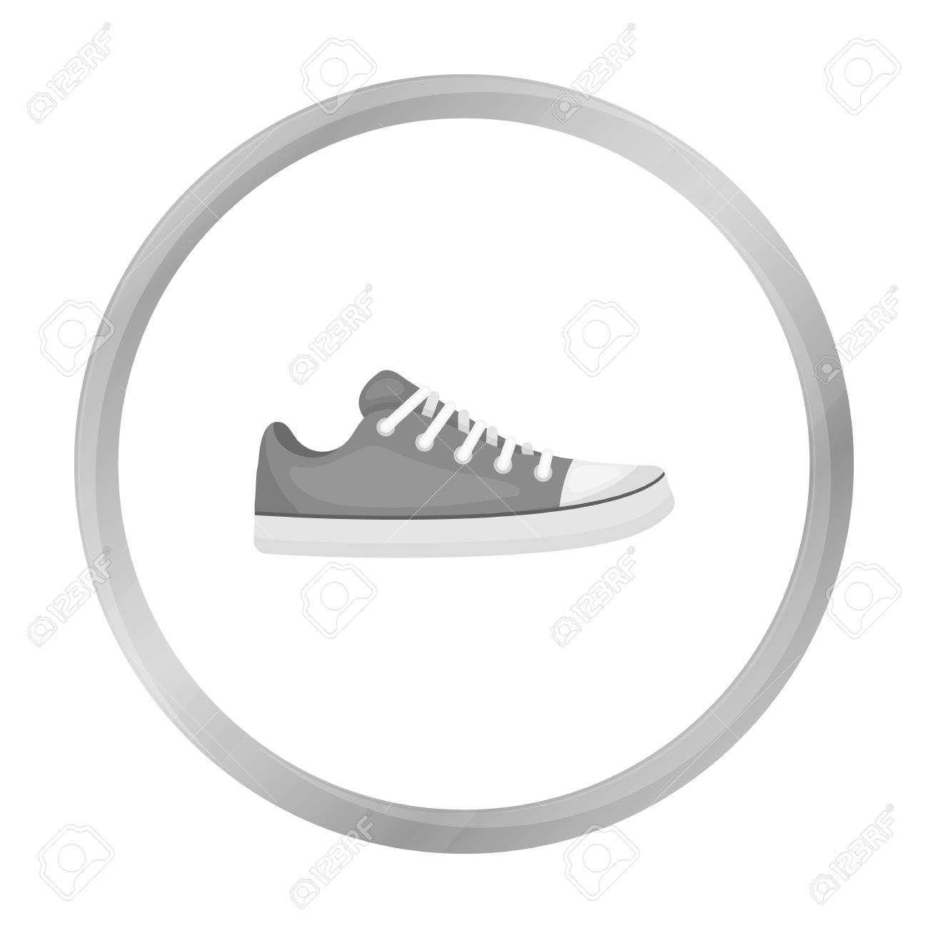 Gumshoes Icon In Monochrome Style Isolated On White Background
