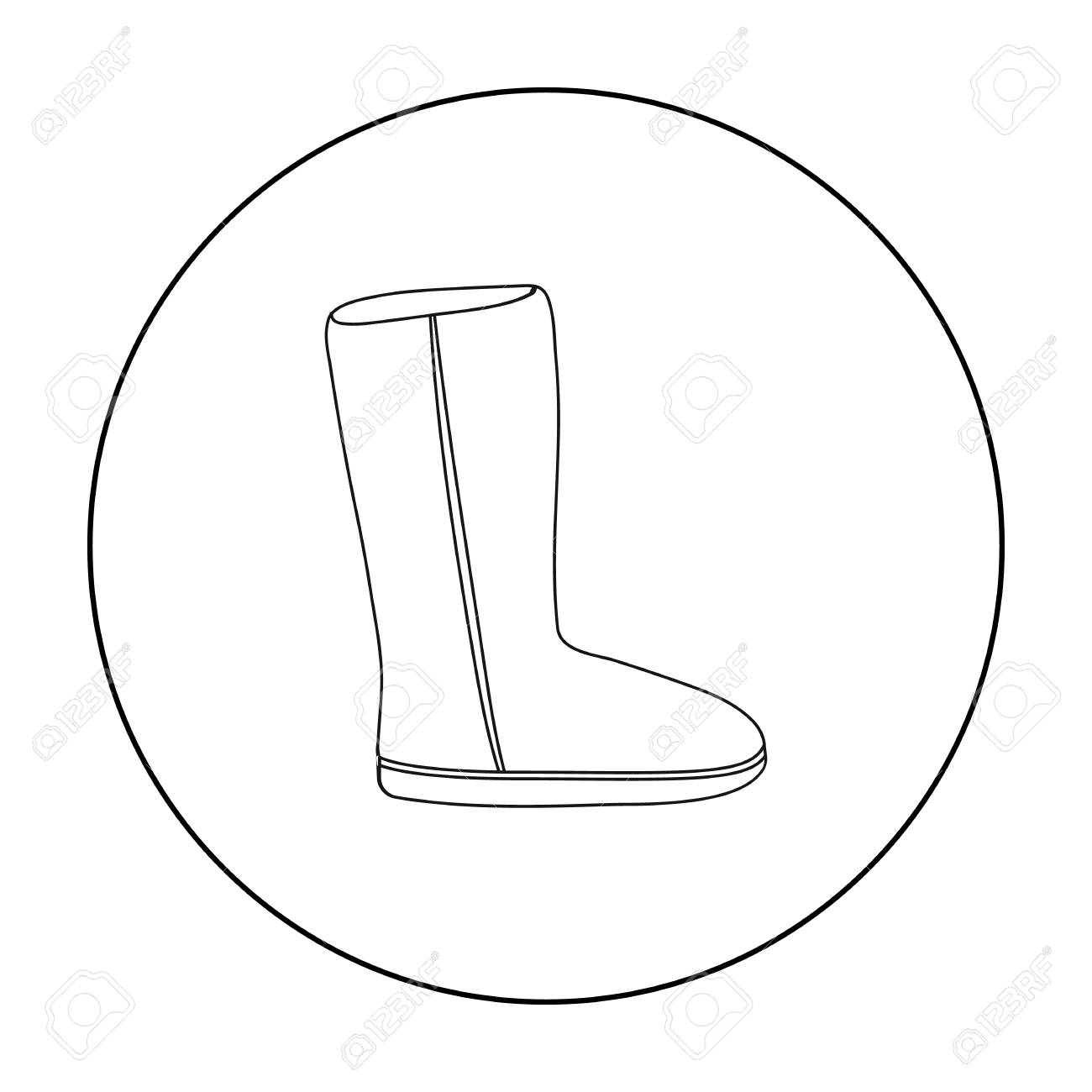 2bc9ed40c1f Ugg boots icon in outline style isolated on white background...