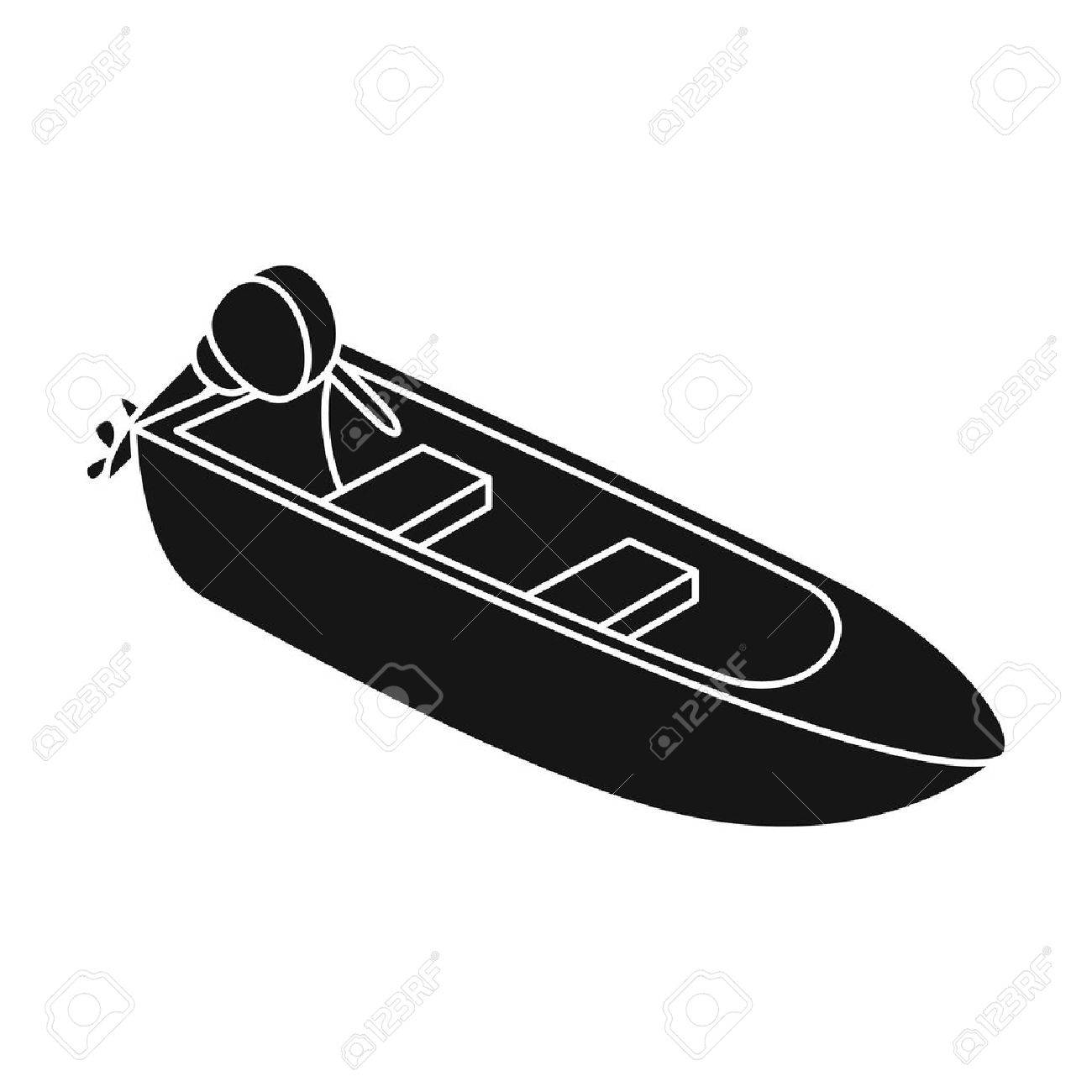 Kleines Metallboot Mit Motor Für Das Fischen. Boot Für Fluss Oder ...