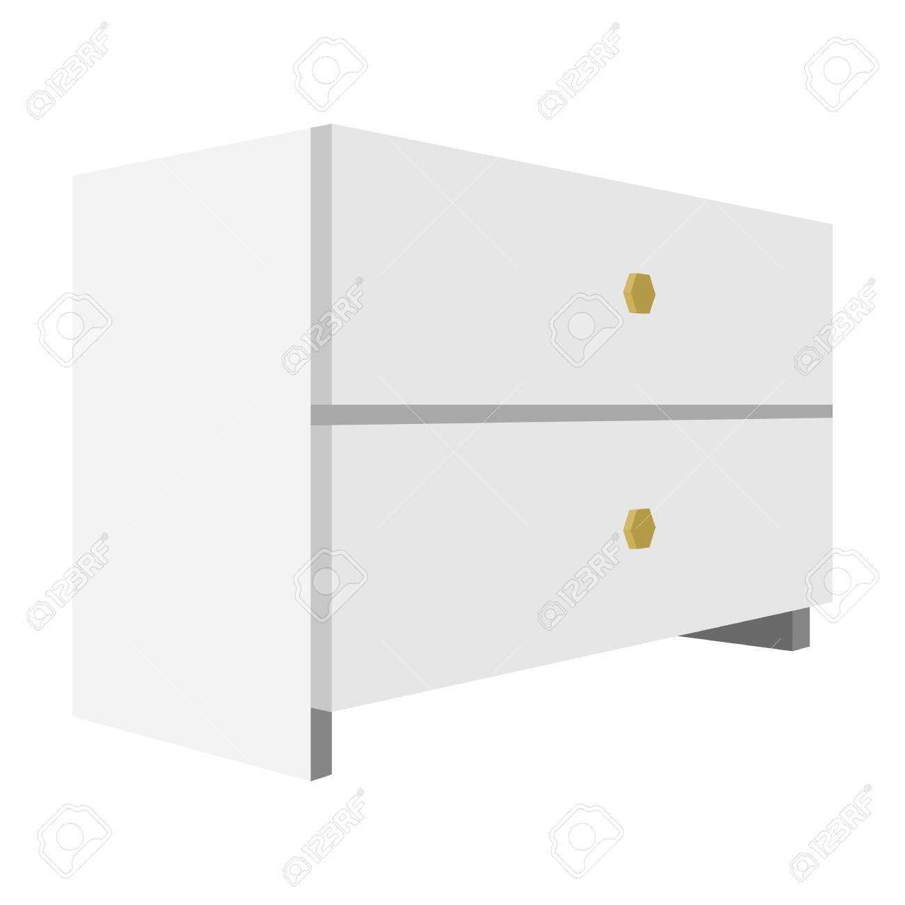 White bedside table with two drawers.Room accessories for all..