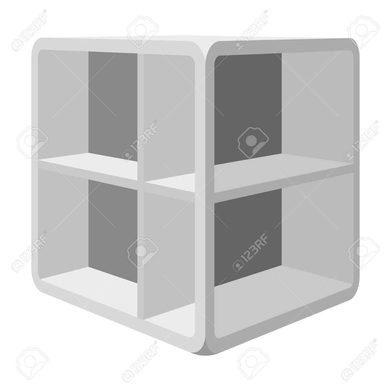 Witte Kleine Salontafel.Kleine Salontafel Witte Tafel Met Cellen Slaapkamer Meubilair Enkele Pictogram In Zwart Wit Stijl Vector Symbool Stock Illustratie