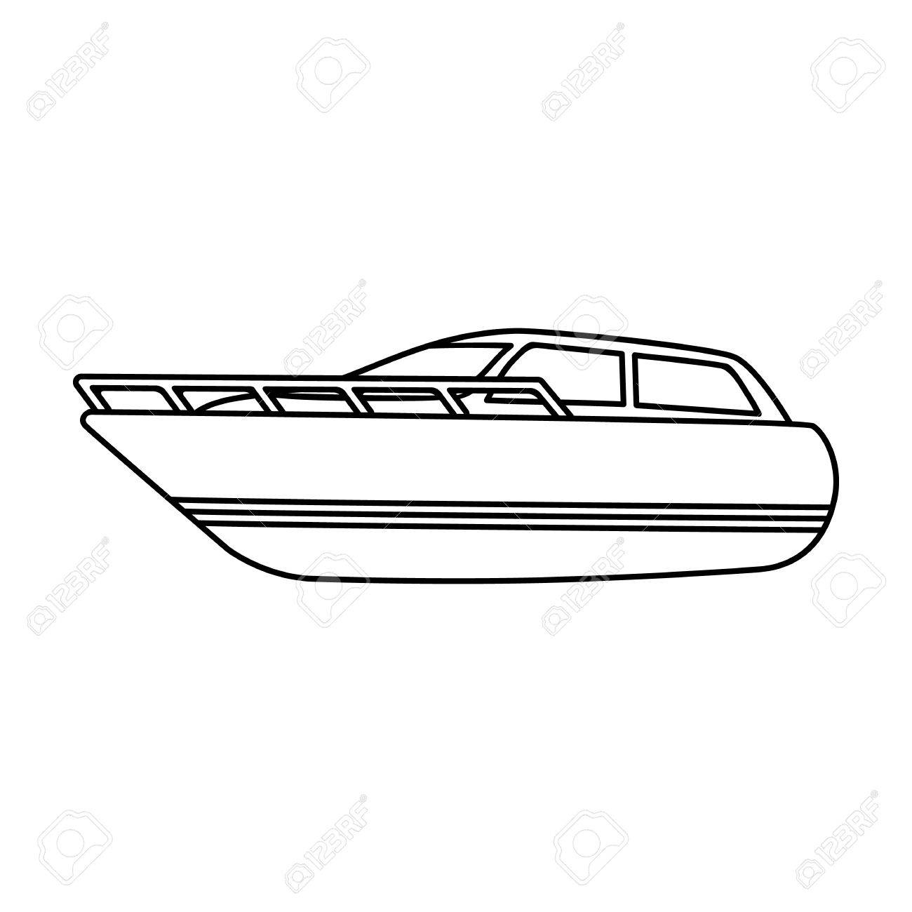 White motor boat to transport a few people One of the types of