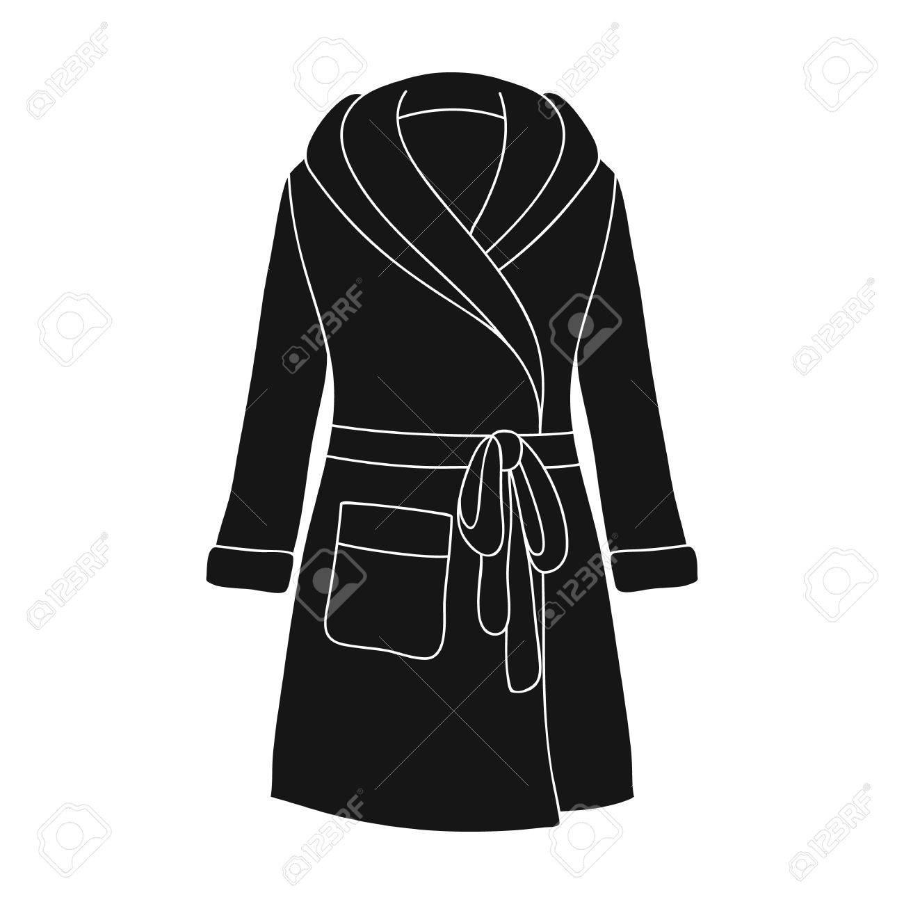 04ffb5c5b3f0fd Banque d'images - Robe de la dame verte après le bain. Vêtements de maison  pour les femmes. Femme vêtements unique icône dans l'illustration stock du  ...