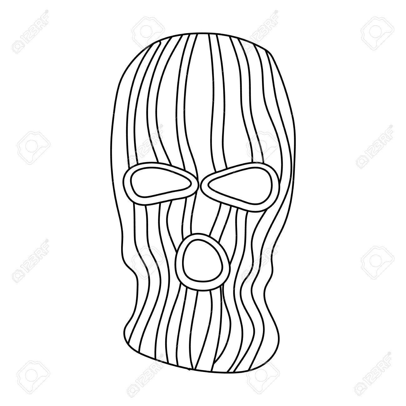 Mask To Close The Face Of The Offender From Witnesses.Prison ...