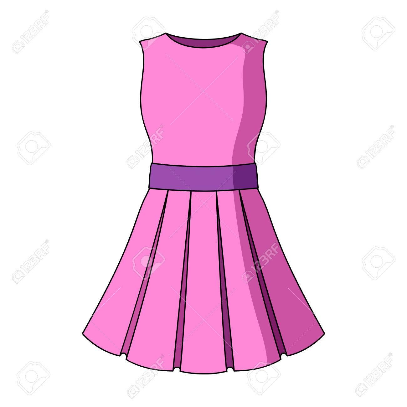 pink dress cartoon