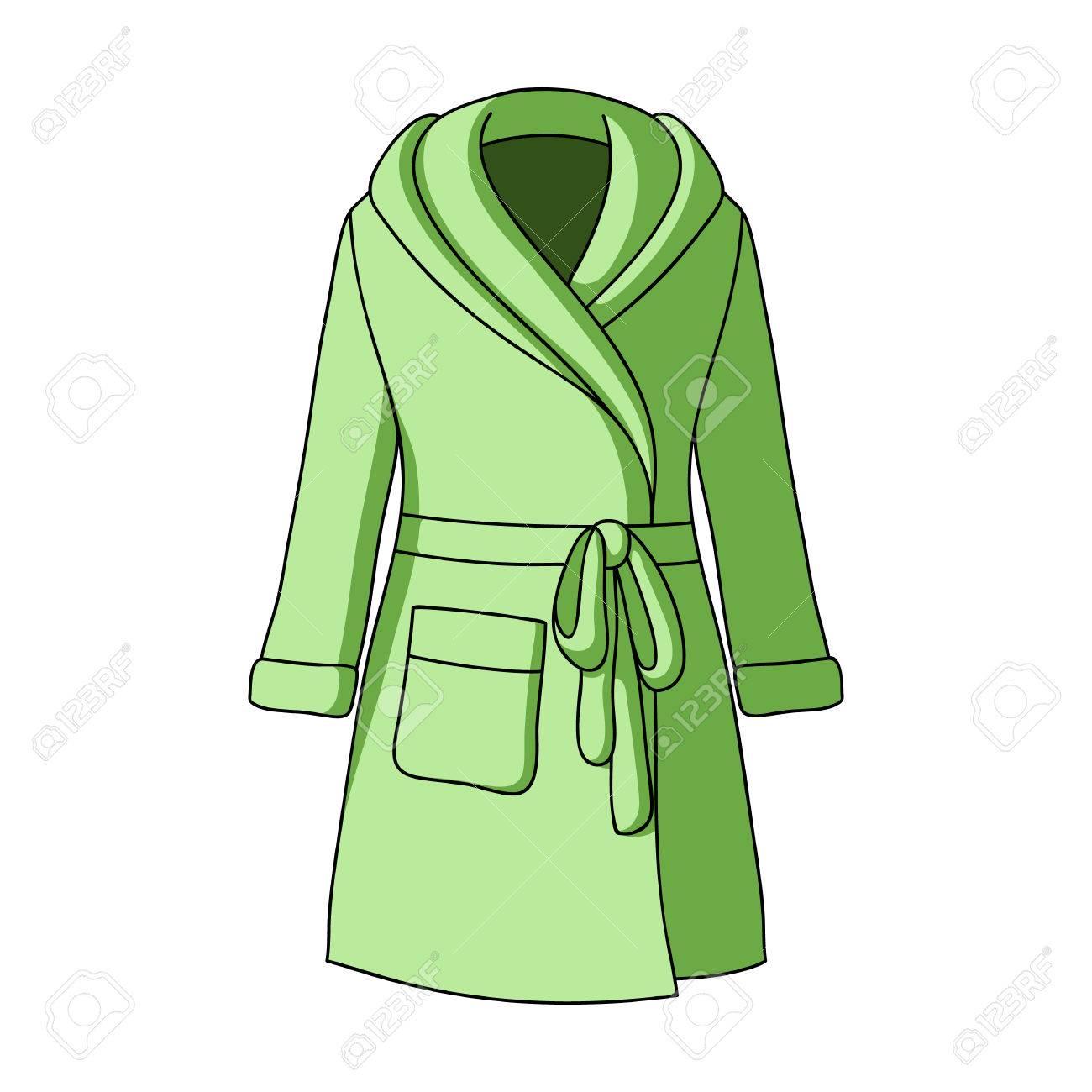 a2fc00b67 El vestido de dama verde después del baño. Ropa de hogar para mujeres. Mujer