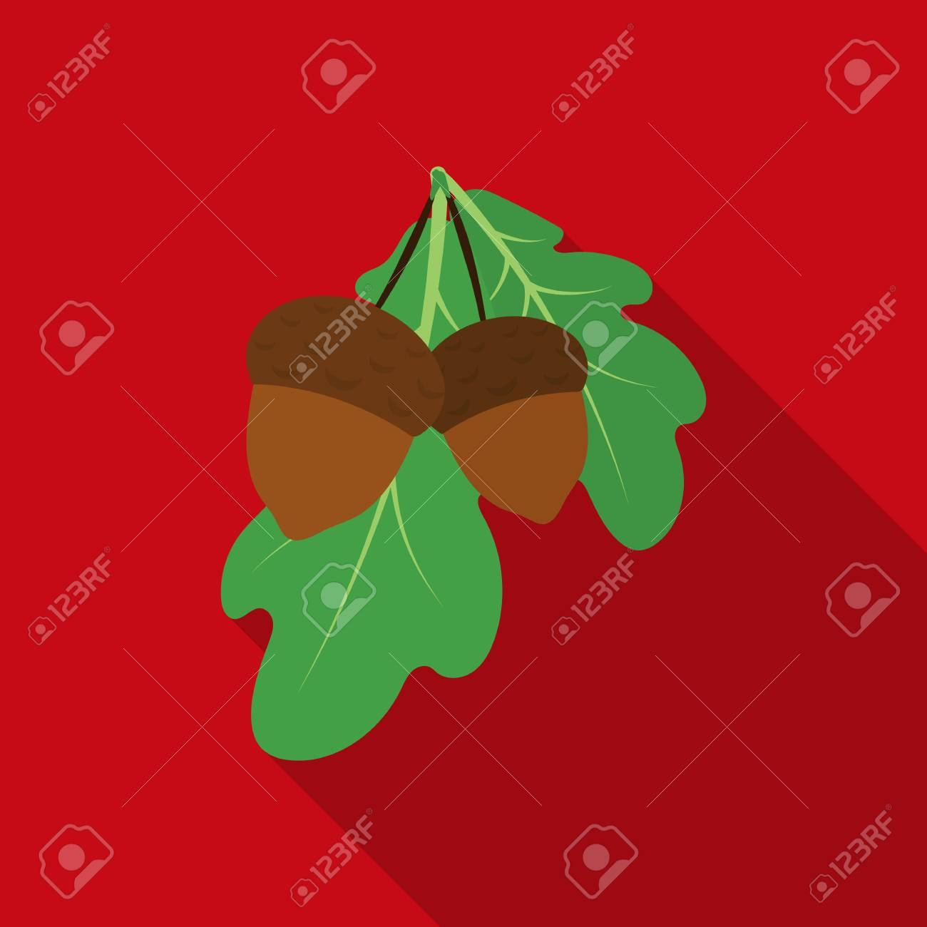 Acorns icon in flate style isolated on white background canadian acorns icon in flate style isolated on white background canadian thanksgiving day symbol stock vector biocorpaavc Choice Image