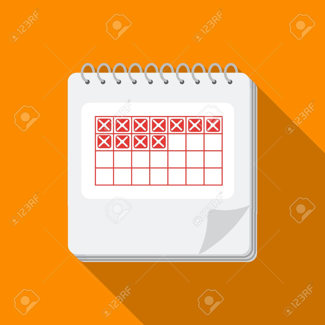 1dbb6ab9f Foto de archivo - Icono de calendario en estilo plano aislado sobre fondo  blanco. Embarazo símbolo stock vector ilustración.