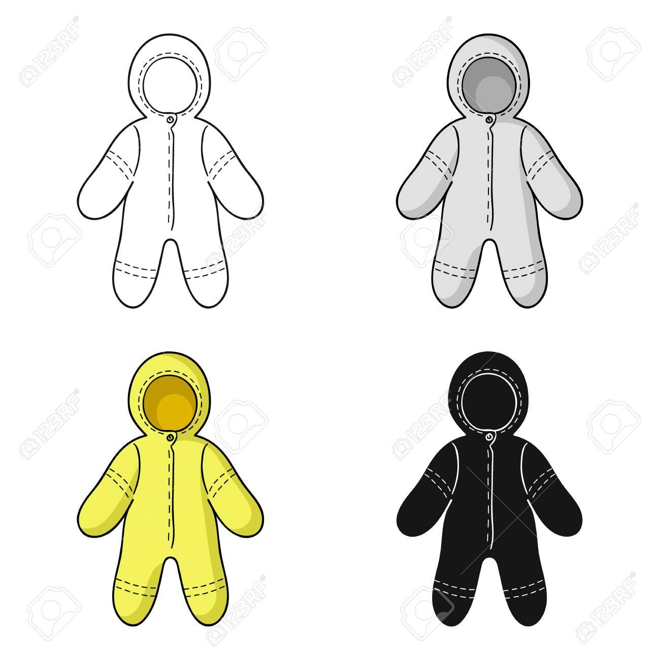 Banque d images - Icône de body pour bébé en style dessin animé isolé sur  fond blanc. Illustration vectorielle symbolisée par un bébé né. 05d52b05dd2