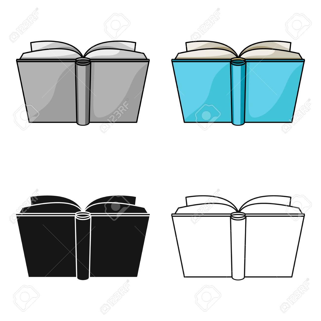 Icone De Livre Ouvert Bleu En Dessin Anime Isole Sur Fond Blanc Livres Symbole Illustration Vectorielle Stock