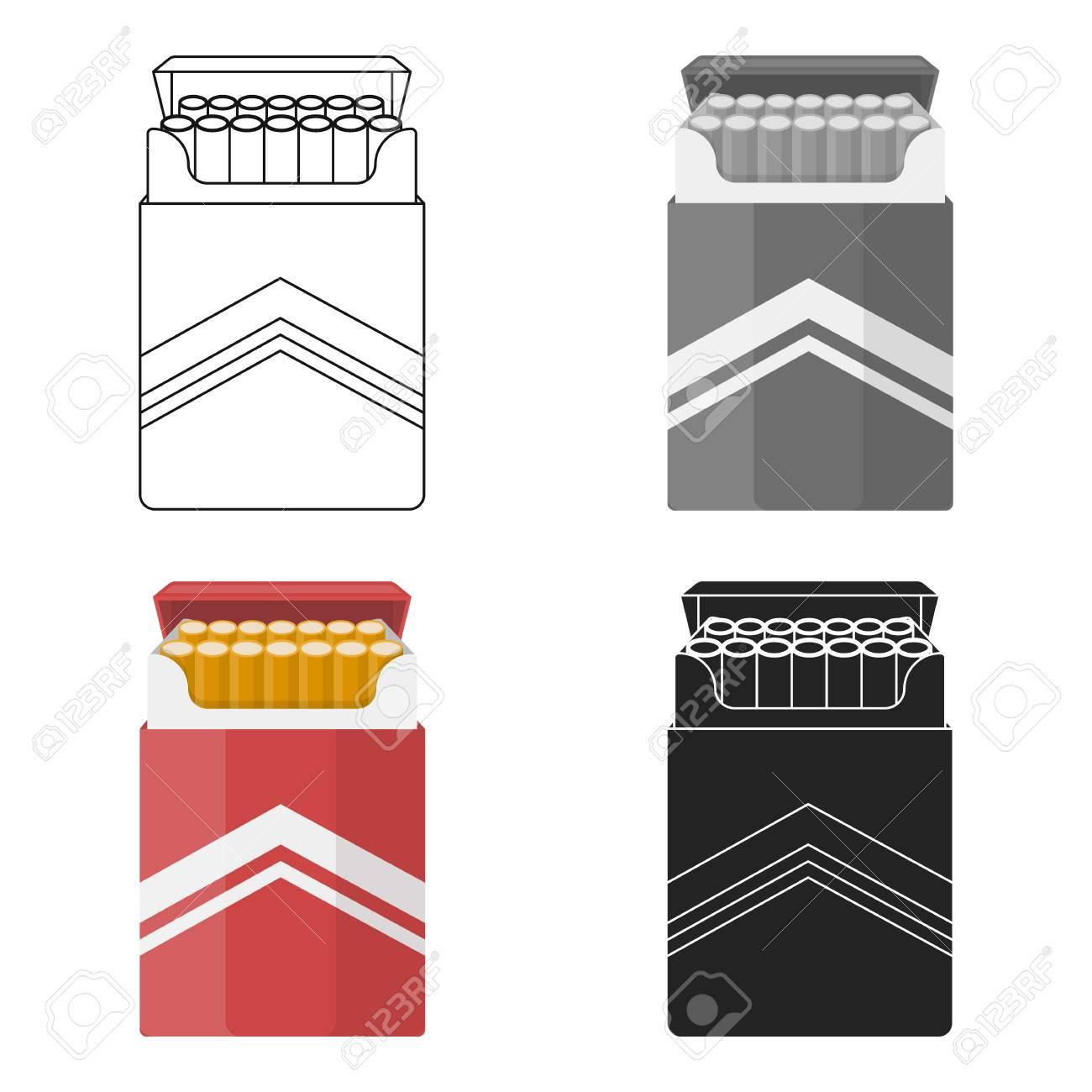 Dessin Paquet De Cigarette paquet de cigarettes icône dans le style de dessin animé isolé sur
