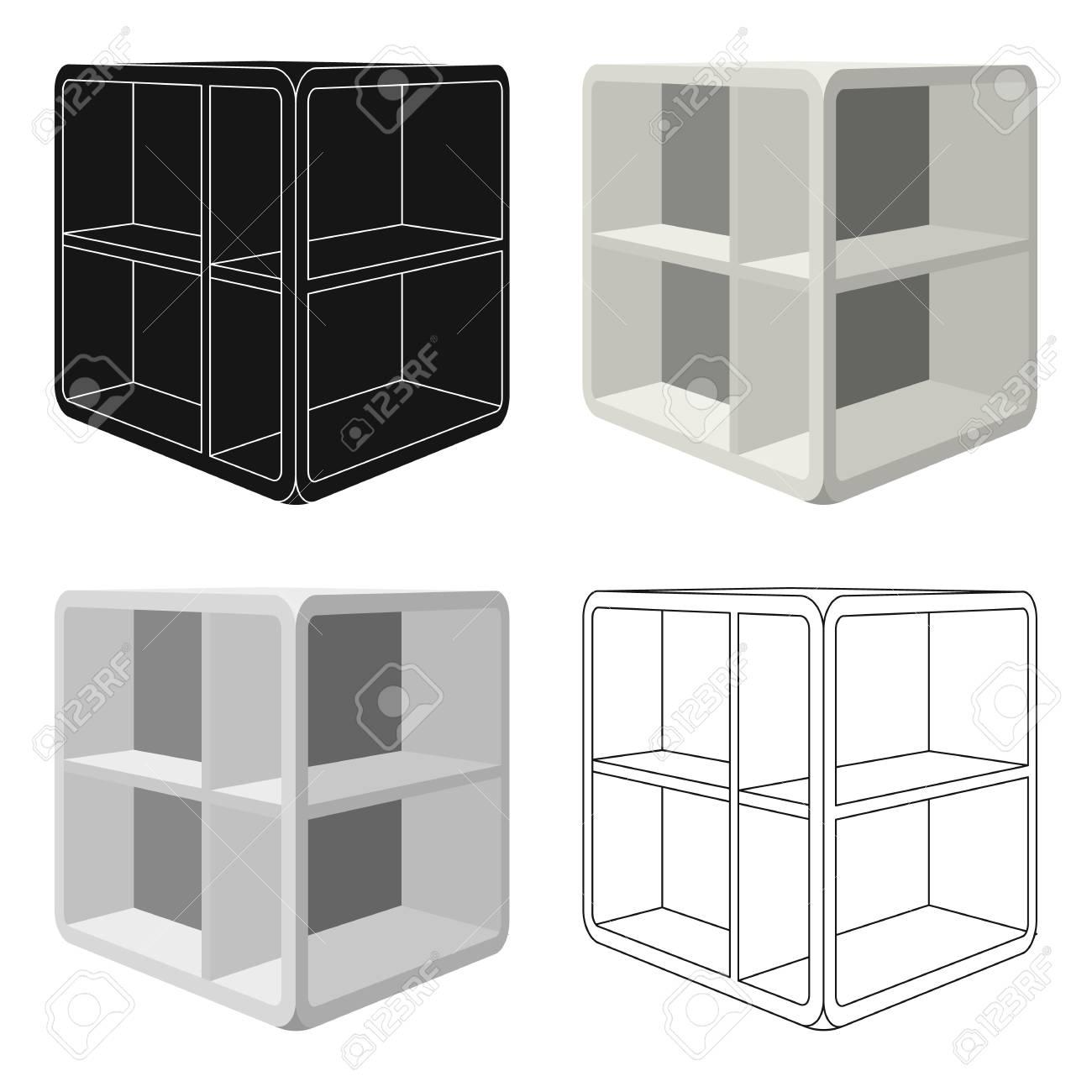 Table Basse De Petite Piece Table Blanche Avec Des Cellules Icone