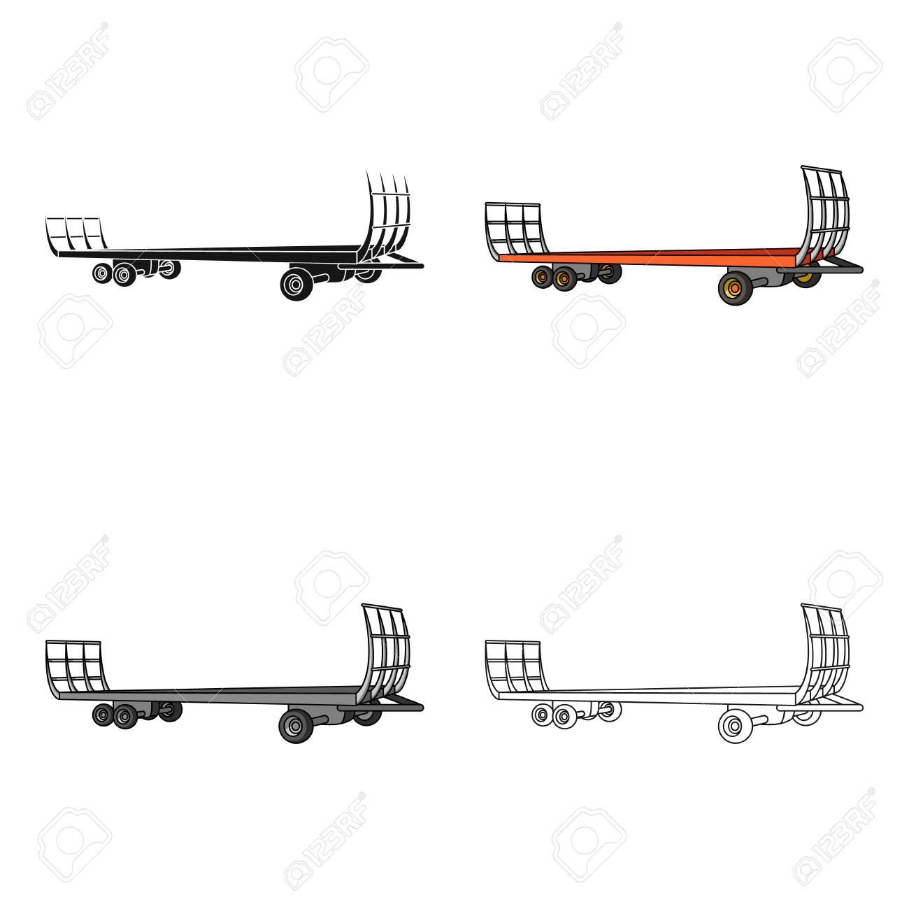 Specialized Trailer On Wheels For Trucks For Transportation Of