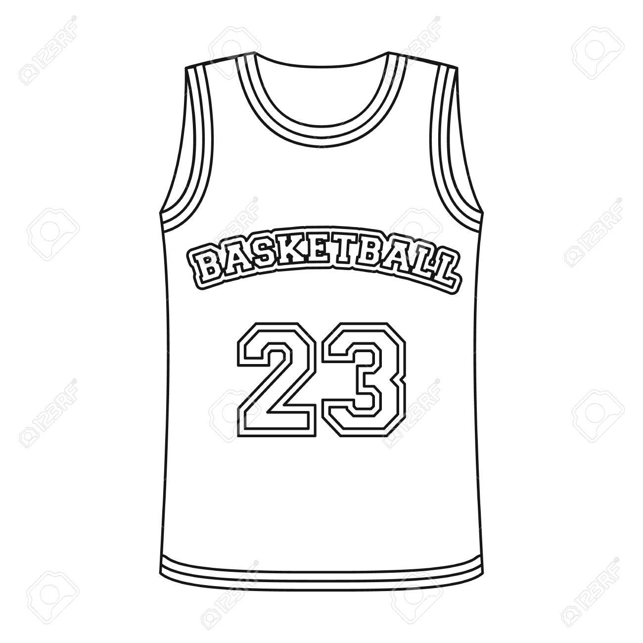 dd7561ce7e6 Basketball jersey.Basketball single icon in outline style vector symbol  stock illustration web. Stock