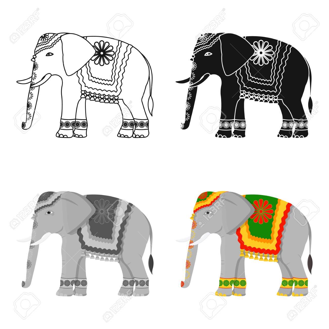 Indian elephant icon in cartoon style isolated on white background indian elephant icon in cartoon style isolated on white background india symbol stock vector illustration buycottarizona Images