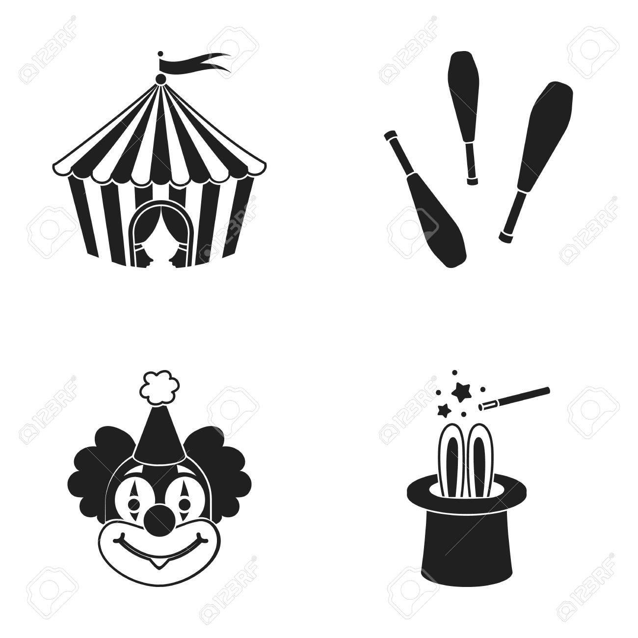 Tente De Cirque Massues De Jongleur Clown Chapeau De Magiciens