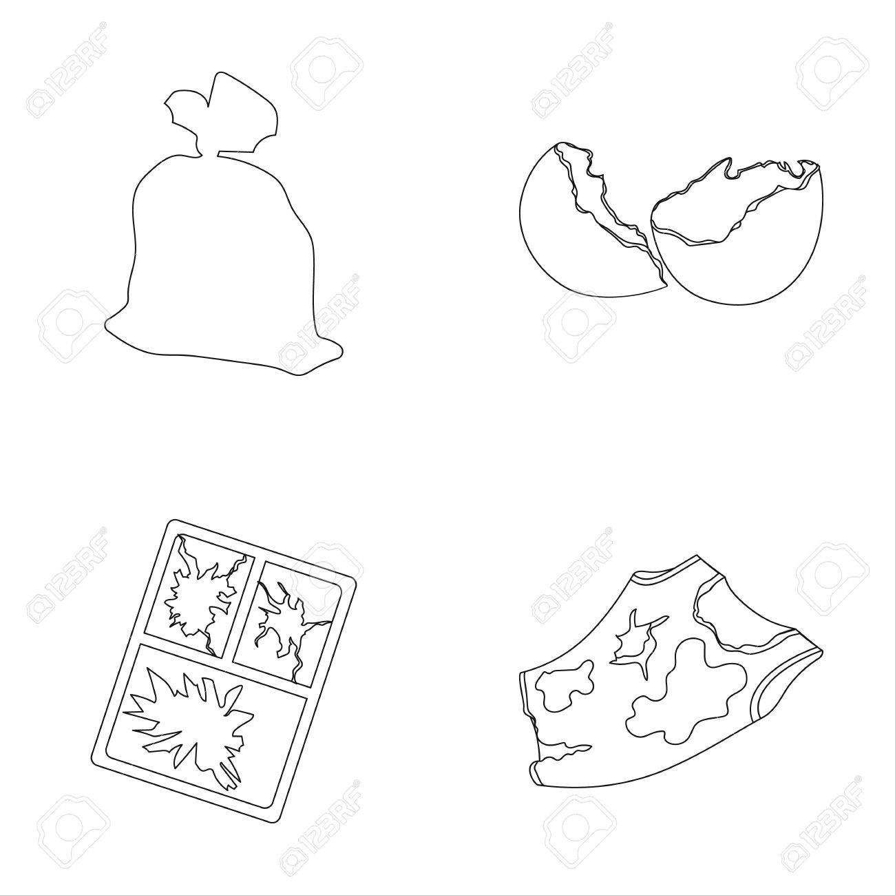 Una Bolsa De Basura, Una Cáscara De Huevo Rota, Una Camiseta Sucia ...
