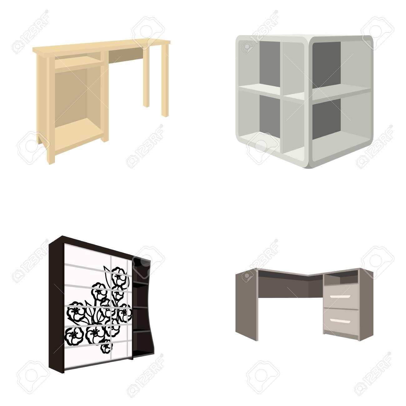 Dressing table, corner shelves, computer desk, wardrobe with..