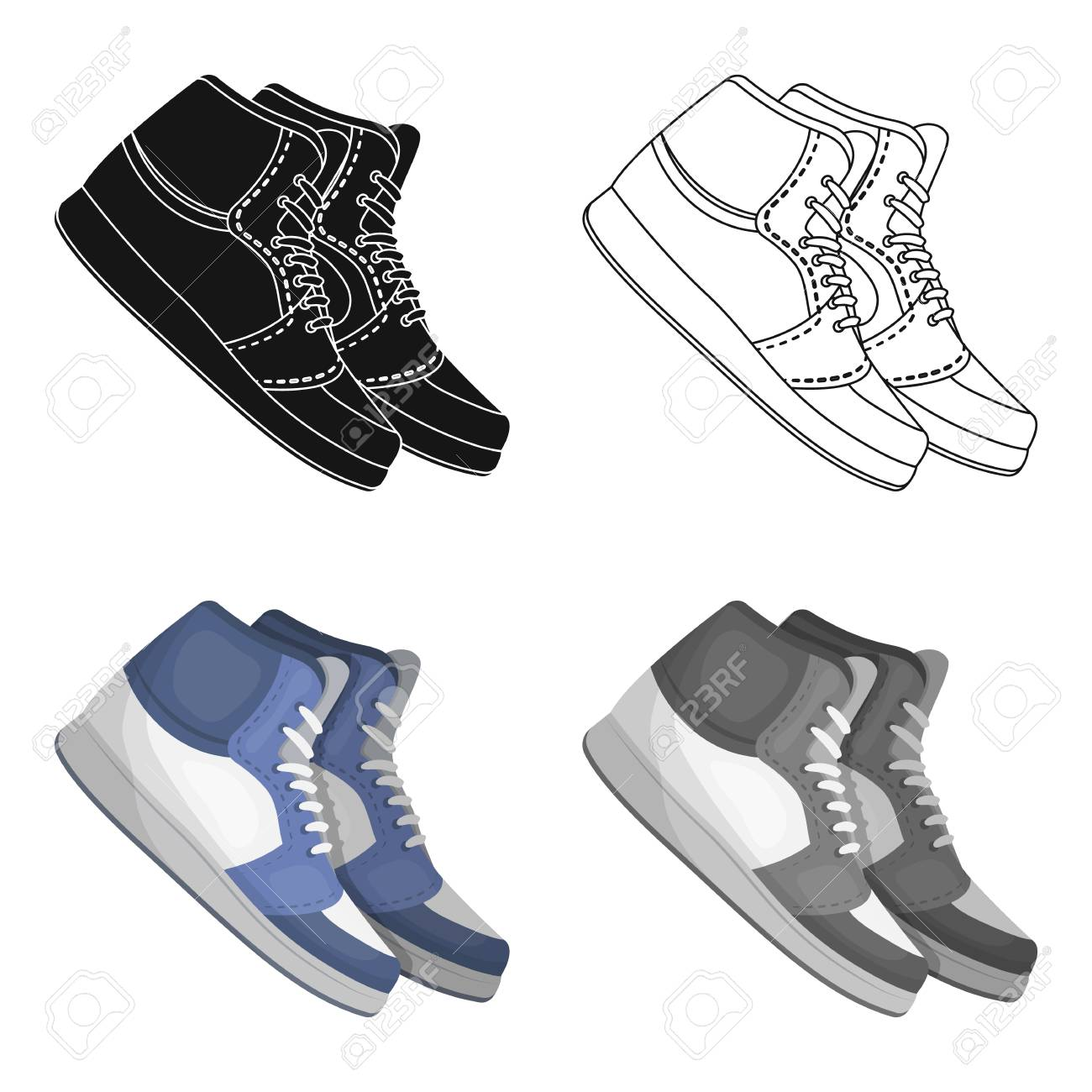 2e1ced45 Basketball shoes.Basketball single icon in cartoon style vector symbol stock  illustration web. Stock