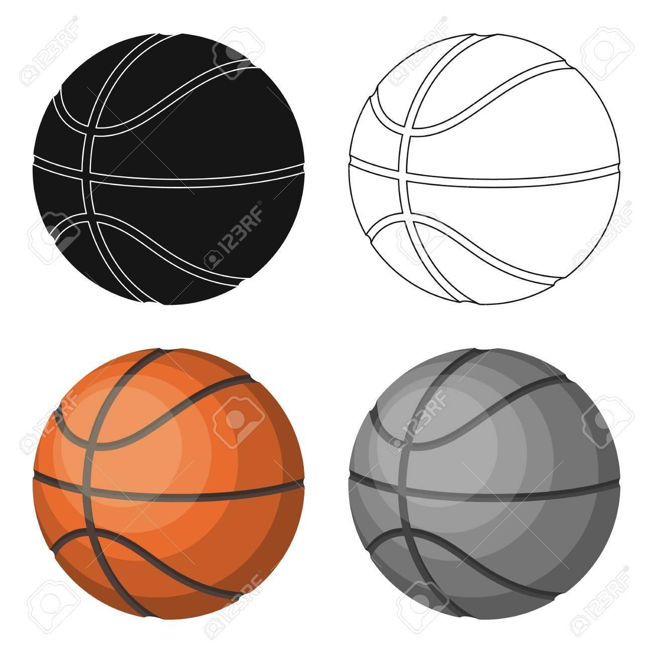 Basketball Basketball Single Icon V Kresleny Styl Vektorovy Symbol